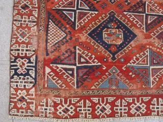 3653-Bergama carpet frag size 152x145