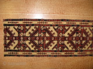 4388-Turkmen band very old piece size 144x26