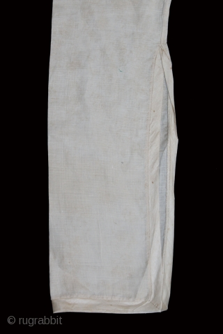 Angarakha Man(Costume)Fine Cotton From Rajasthan India.C.1900.Worn by Royal Family of Rajasthan.(DSL02970).