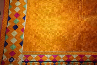 Vari-Da-Bagh from West (Pakistan) Punjab India Called As Vari-Da-Bagh.Extremely Fine Phulkari.This bagh was gifted to the bride by her in-laws when she was entering their house, her new home, on the wedding  ...