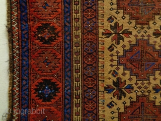 Turkish Knot Baluch Size: 96x165cm Natural colors, camel hair, made in period 1910