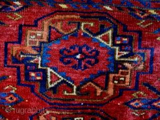 19th Century Fine Turkmen Cuval Size: 141x84cm Natural colors