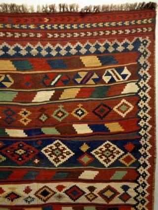 Qasqhay Kelim Size: 155x254cm Natural colors, made in circa 1910/20