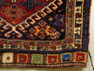 Qasqhay Bagface Size: 73x57cm Natural colors, made in circa 1910/20
