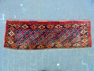 19th Century Turkmen Torba Size: 100x32cm Natural colors (except the apricot color is a little bit faded)