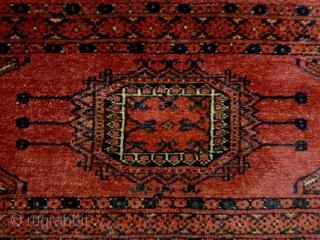 Fine Turkmen Penjerelik Size: 165x32cm Natural colors, made in circa 1910/20, there are small moth bites