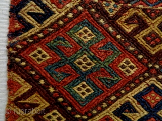 19th Century Tribal Jaf Soumakh Size: 99x52cm Natural colors, there are some old repairs (see picture 5).