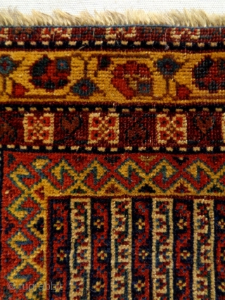 19th Century very Fine Afshar Bagface Size: 56x45cm Natural colors, there are two stains.
