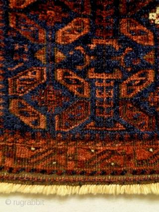 19th Century Baluch Bagface Size: 60x50cm Natural colors