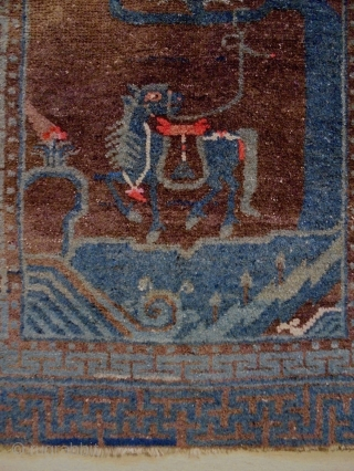 Chinese Rug Size: 60x116cm made in period 1910/20