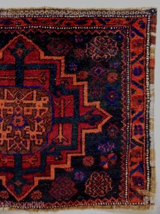 Memluk Gul Baluch Bagface Size: 79x62cm Natural colors, made in period 1910/20