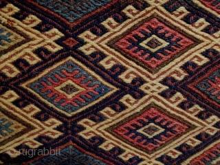 19th Century Tribal Soumakh Size: 100x54cm Natural colors