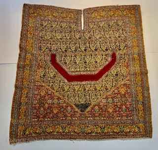 Senneh saddle cover,1850 circa no repairs and good condition-size 106x108cm