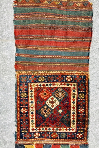 Kurdish Jaf 1880 circa with beautiful natural colors and good condition wool on wool size55x108cm