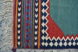 Ghashgai small kilim that was using as a prayer that I saw and bought it.Size:85x49 cm,in fine condition