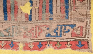 Early 19th Century Central Anatolian Rug Fragment 52x95 cm