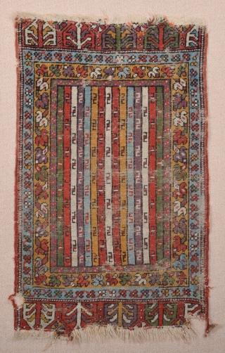 Mid 19th Century Central Anatolian Yastik size 54x86 cm