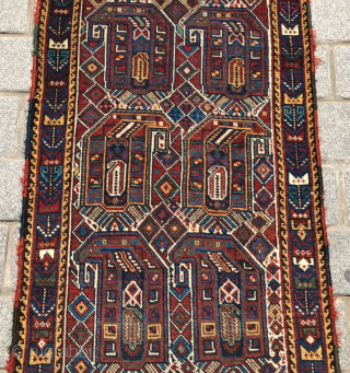 Late 19th Century Khamseh Runner size 72x286 cm
