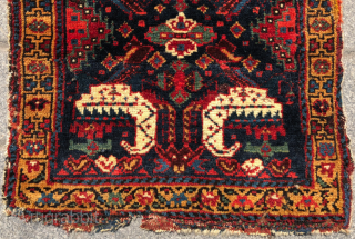 Colorful Persian Bag Face circa 1850 size 52x54 cm