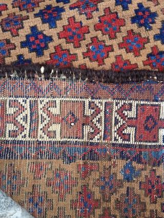 19th Century Camel Field Baluch Rug size 85x155