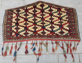 Turkmen Yomud Asmalyk circa 1860-70's size 70x124 cm Perfect condition and few silk knots