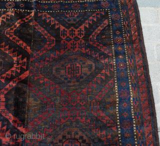 Baluch Main Carpet circa 1880 size 185x267 cm