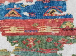 18th Century Central Anatolian Cappadocia Kilim Fragment size 93x117 cm