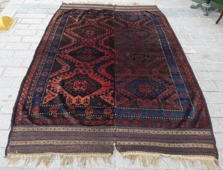 Two Halves Baluch Main Carpet circa 1880 size 185x267 cm