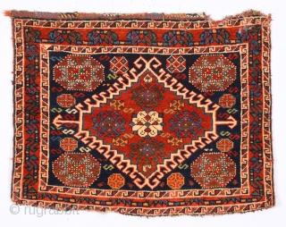 Late 19th Century Qashqai Bag Face size 53x68 cm