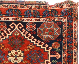 Late 19th Century Qashqai Bag Face size 53x68 cm