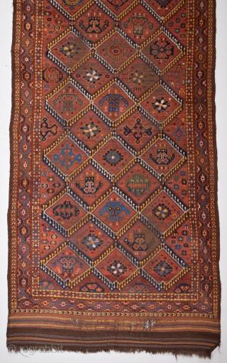 Unusual Ersari Main Carpet circa 1870 size 135x250 cm
