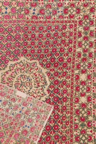 19th Century Central Asian Uzbek Suzani size 185x220 cm