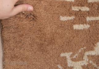 19th Century Camel Field Karapinar Rug size 101x155 cm