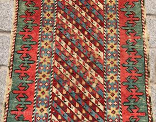 Mid 19th Century Unusually Small Shirvan Rug size 63x108 cm