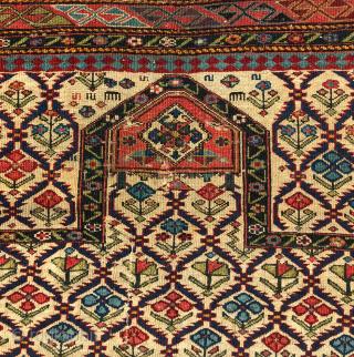 Mid 19th Century Shirvan Prayer Rug size 100x132 cm