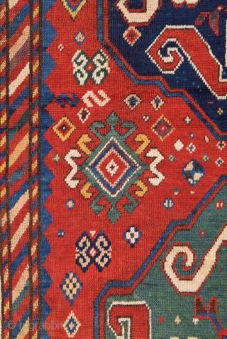 Very Nice Cloudband Kazak Rug dated 1287/1868 size 130x276 cm