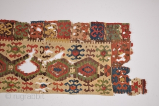 18th Century Colorful Central Anatolian Konya Kilim size 77x316 cm