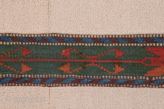 Mid 19th Century Colorful Asian or Persian Band size 9x725 cm