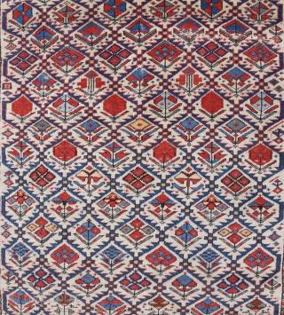 Late 19th Century Shirvan Prayer Rug size 113x147 cm