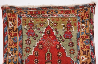 Central Anatolian Konya Prayer Rug c1800's size 125x150 cm