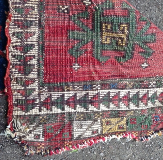 Mid 19th Century Central Anatolian Yastik Fragment size 33x64 cm