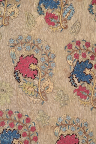 18th Century Ottoman Embroidery size 132x216 cm