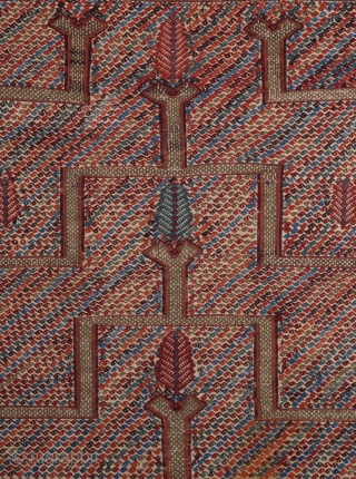 Mid 19th Century Central Anatolian Konya Kecimuhsine Cicim 112x142 cm