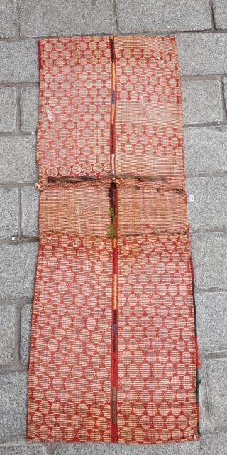Late 19th Century Unusual Qashqai Saddle Bag size 43x107 cm