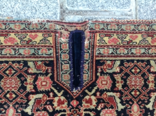 Very Fine Senneh Saddle Cover circa 1870 size 98x100 cm