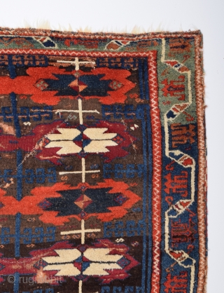 Early 19th Century Central Anatolian Kurdish Rug 130x175 cm