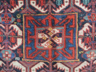 Khamseh bagface 1880 circa with good colors,size60x68cm