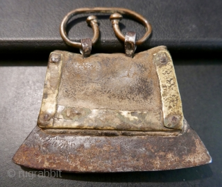Antique Tibetan Leather Flint Case and Fire Striker.  18th - 19th c.  Beautiful and primitive.   The leather is stiff with age and has a wonderful patina.  And  ...