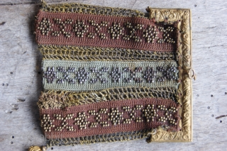 beaded purse 8x9cm
