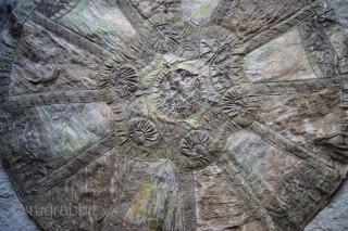 textile with metal thread 77cm diam.